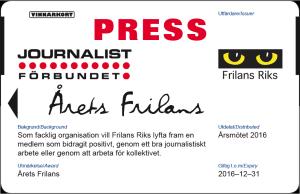 Årets frilans presskort 2016