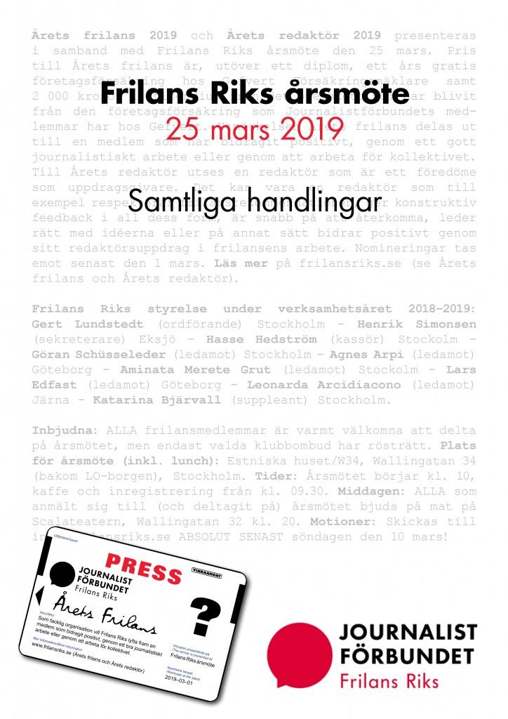 2019 Frilans Riks samtliga årsmöteshandlingar
