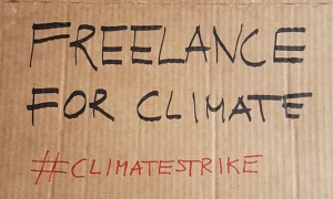 Freelance for climate - skylt