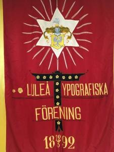 Banderoll Luleå Typografiska Förening
