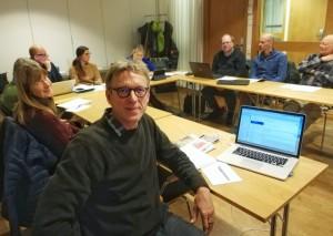Gert Lundstedt på möte med Mellannorrlands frilanssektion i Sundsvall. Foto: Britt Mattsson