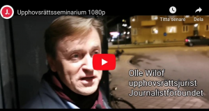 Olle Wilöf i film om upphovsrätt