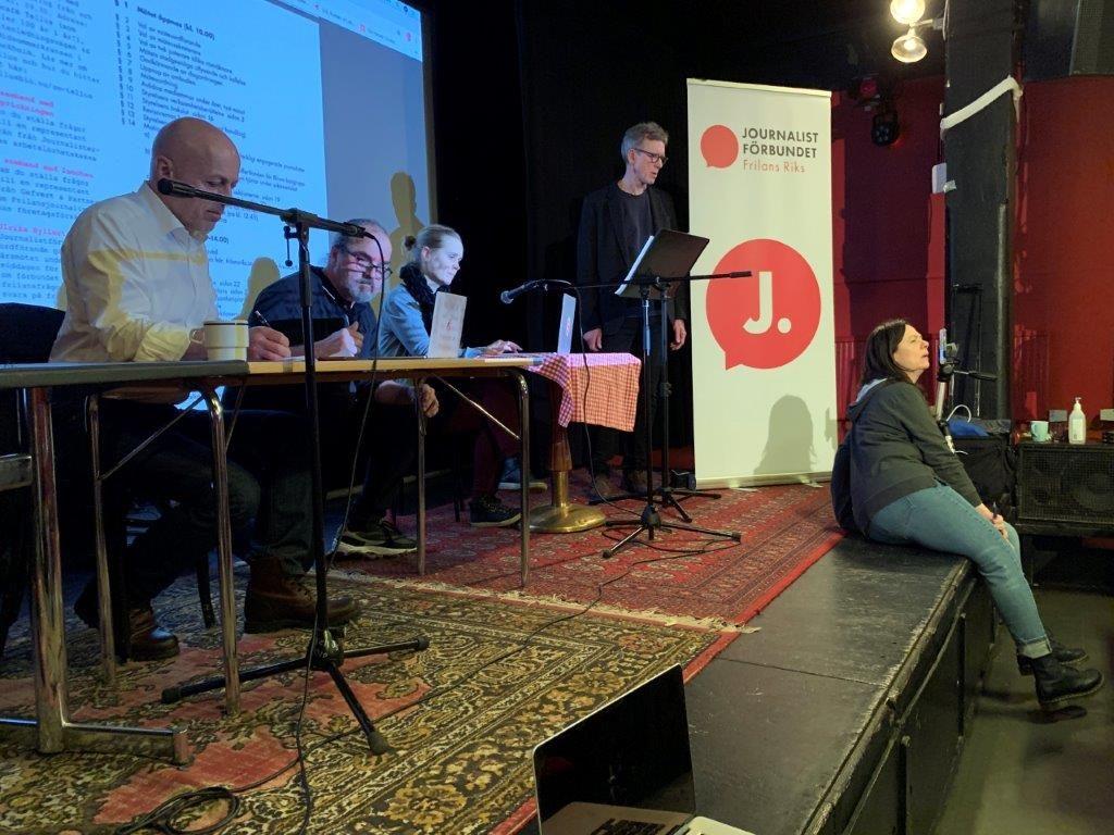 Frilans Riks årsmöte. Foto Göran Schüsseleder